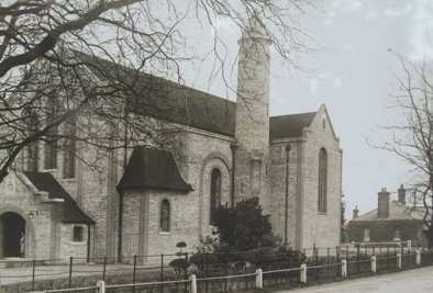 Church in 1927 with bell tower
